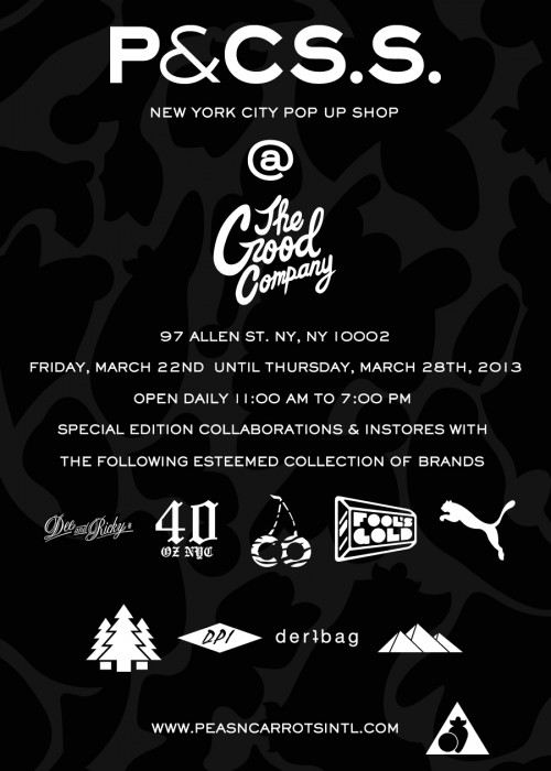 peas and carrots pop up shop at the good company