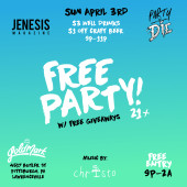 "JENESIS Magazine Presents ""FREE PARTY"" With Christo At The Goldmark 4/3"